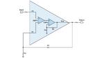 Bild 2. Ein kombinierter Verstärker – aus zwei Operationsverstärken aufgebaut – lässt sich als einzelner Verstärker betrachten.