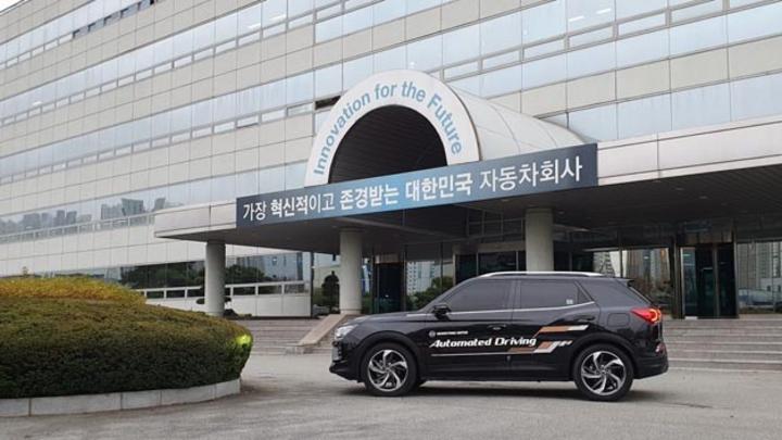 In Korea rollt derzeit ein nach SAE-Level 3 automatisierter Ssangyong Korando über die Straßen.
