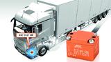 Die Beschleunigungssensoren werden unter anderem im Bereich der LKW-Vorderachse montiert.