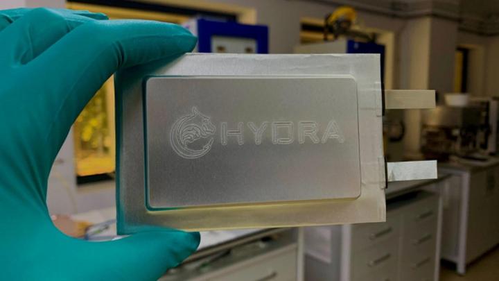 Batteriezelle des DLR-Projekts HYDRA.