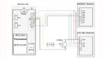 Aufbau des Funksensorknotens zur Brückenüberwachung mit IQRF-Transceiver sowie den beiden Breakout Boards mit dem Beschleunigungs- und dem Luftfeuchtigkeitssensor