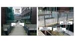 Die Funksensorknoten sind an einer Fußgängerbrücke montiert, die Zentrale ist in einem Büro platziert