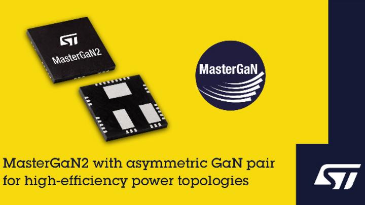 STMicroelectronics, MasterGaN2, MasterGaN, Galliumnitride