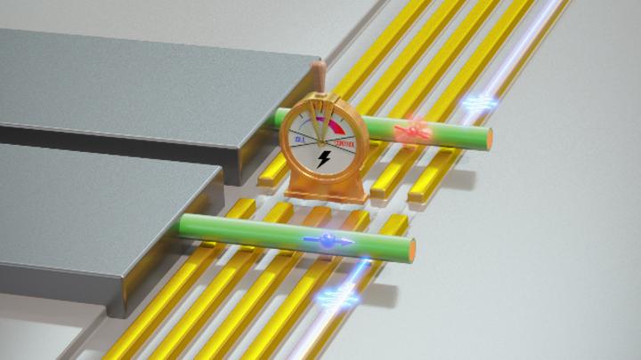 elektrisch schaltbares Qubit