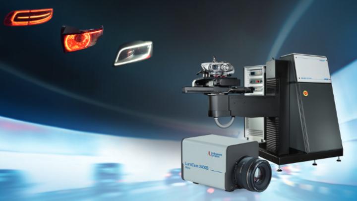 AMS Screen Imaging System mit schneller Leuchtdichtekamera LumiCam 2400B mit 5 Megapixeln Aufösung.