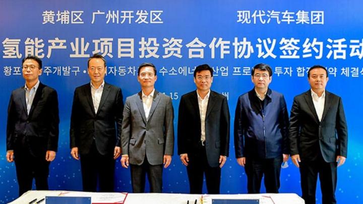 Der koreanische Autobauer Hyundai wird im chinesischen Guangzhou eine Brennstoffzellenfertigung aufbauen.