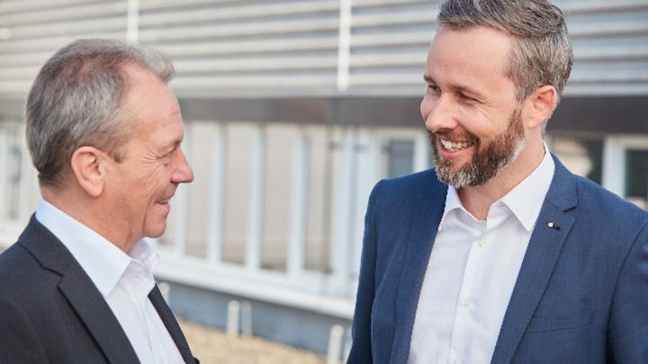 Bruno Ochs (l.) und Stefan Theiler, Schurter GmbH, Deutschland