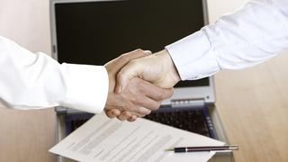 Schmuckbild Vertragsabschluss Handshake