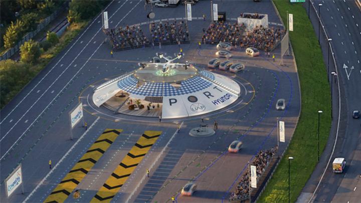 So soll der urbane Flughafen »Air-One« aussehen, den Urban Air Port in Zusammenarbeit mit Hyundai Motor in Coventry/Großbritannien bis 2022 bauen will.