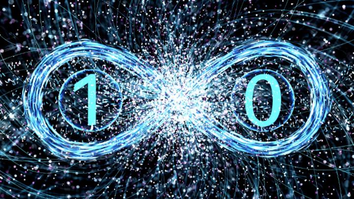 Symbolische Darstellung zur Quantenphysik