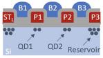 Schematischer Querschnitt eines Doppelpunktes, definiert durch ähnliche Gatter wie in Bild 2.