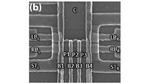 Mikroskopaufnahme Dreifach-Quantenpunkte.