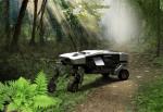 Der wandlungsfähige intelligente Bodenexkursionsroboter kann verschiedenartige Nutzlasten in unwegsamem Gelände transportieren.