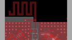 Layout der PCB-Antenne, die optimiert werden soll.
