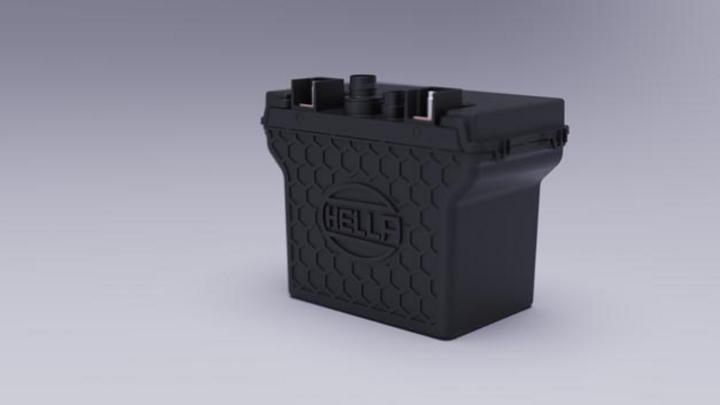 Hella erweitert sein Produktportfolio um ein Low-Volt-Batteriemanagement-Systeme (im Bild ein 12-V-Batteriepack des Zulieferers). Sie können bei allen Elektrifizierungsstufen zum Einsatz kommen.