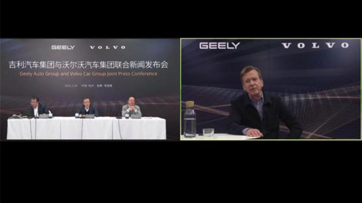 verkündeten eine Vertiefung der Partnerschaft zwischen Geely und Volvo.