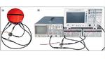 Vereinfachter Messaufbau zur Charakterisierung eines Mischers mit einem Moku:Lab. (b) Im konventionellen Aufbau werden vier Messgeräte benötigt: Spektrumanalysator, zwei Funktionsgeneratoren und Oszilloskop