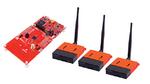 Drei Funksensoren und ein Entwicklungsmodul – alle auf Basis des Wireless- Mikrocontrollers CC1352R – enthält das Mioty- Entwicklungskit MIOTY-HW-BDL von Texas Instruments