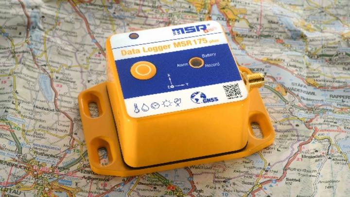 Datenlogger mit zwei Beschleunigungssensoren und GPS/GNSS-Sender MSR175pro.