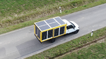 E-delivery vehicle with integrated photovoltaics