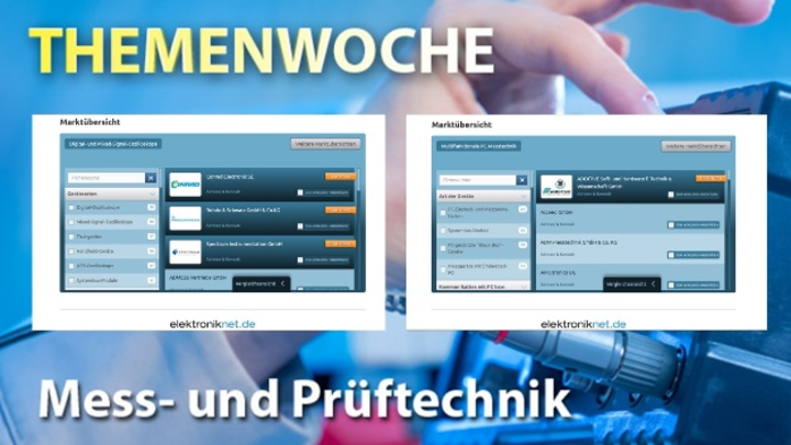 """Die großen Marktübersichten """"Oszilloskope"""" und """"PC-Messtechnik"""" - zu finden auf markt-technik.de"""