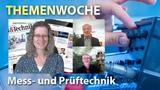 Markt&Technik-Redakteurin Nicole Wörner im Gespräch mit Hans Steiner, Datatec (oben) und Michael Dams, NI (unten)