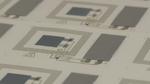 Auf Papier gedruckte Sensoren zur Schock-Erkennung.