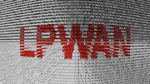 LPWAN as a binary code 3D illustration.