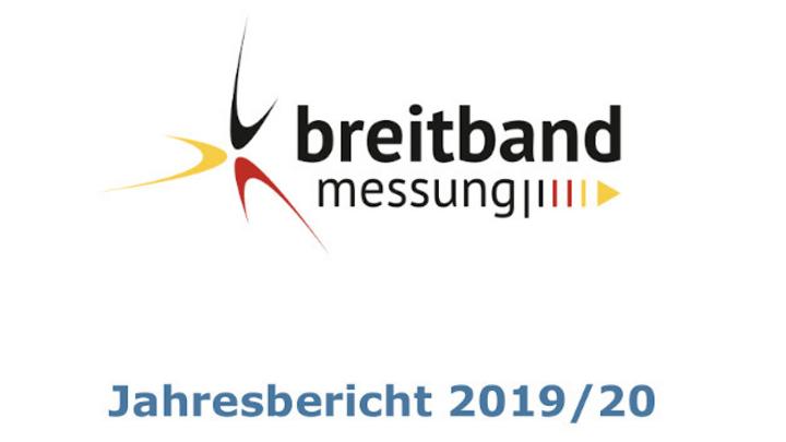 Titelseite Jahresbericht 2019/20 Breitbandmessung