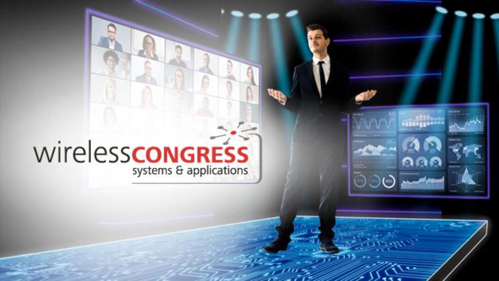 Online-Konferenz mit Wireless-Congress-Logo