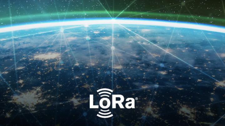 LoRa-Logo über der Erde