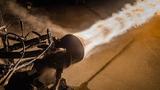 Die erste einteilige, auf einem 3D-Drucker gefertigte Raketenbrennkammer aus einer Kupferlegierung (CuCrZr) im Test