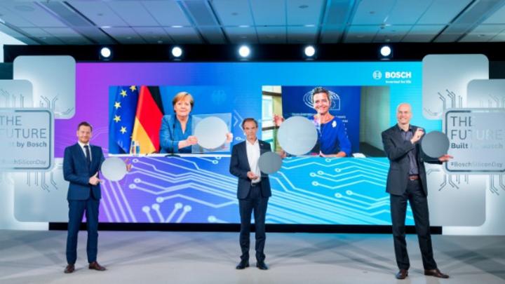 Bosch eröffnet Chipfabrik in Dresden.