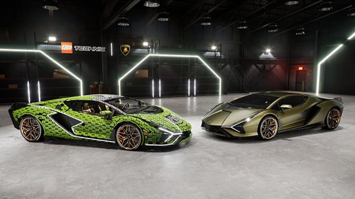 Automobili Lamborghini hat in Zusammenarbeit mit LEGO® eine lebensgroße Nachbildung des Lamborghini Sián FKP 37 mit über 400.000 LEGO-Technic-Elementen gebaut.