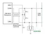 Bild 5. ESD-Schutz eines CAN-Bus-Transceivers mit Hilfe eines AEC-Q101-qualifizierten Dioden-Arrays des Typs AQ3400 von Littelfuse.