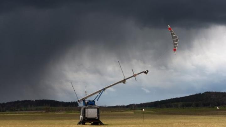 EnerKíte Flugwindkraftanlage im Testbetrieb