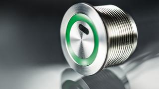Der Schurter TTS ist präziser, berührungsloser Metal-Line-Taster in optischer ToF-Technik.