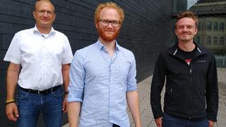 Das Team des neu gegründeten Joint Ventures Endress+Hauser BioSense: Geschäftsführer Dr. Nicholas Krohn, Dr. Stefan Burger und Dr. Martin Schulz (von links).