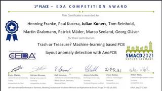 Auszeichnung mit dem 1. Preis des IEEE Council on Electronic Design Automation (CEDA).