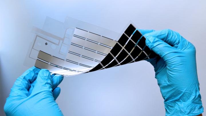 In der flexiblen Sensormatrix von InnovationLab sind kostengünstigen gedruckte Sensoren integriert.