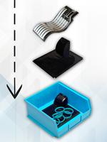 Das Funktionsprinzip des Logistiksystems »IntelliStok« von Trelleborg: Die Sensormatrizen werden einfach in die Behälter eingelegt.
