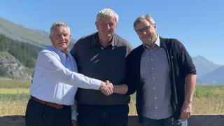 Jürgen Kern (links), Andreas Danuser (Mitte) und Remo Viscardi (rechts), NetModule AG.