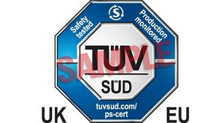 Das ist das neue UK/EU-Prüfzeichen des TÜV Süd