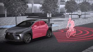 Ein neues Merkmal des Lexus NX: Der Safe Exit Assist.