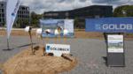 Spatenstich am künftigen Standort in Würzburg