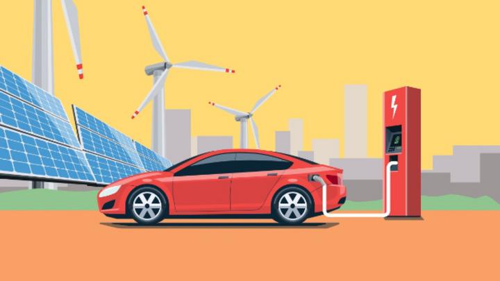 E-Auto, Strom, regenerative Energie