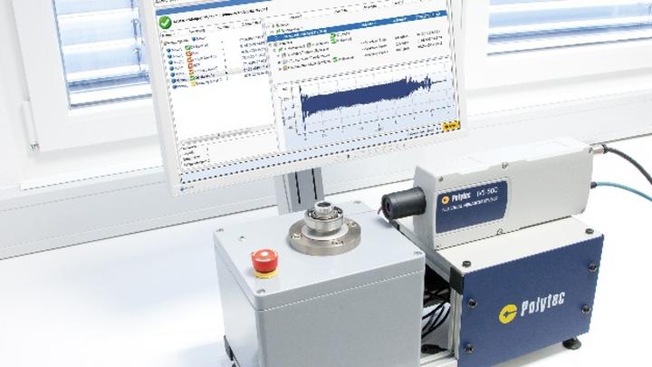 Mehr Flexibilität für vibroakustische Güteprüfungen: Das IVS-500 von Polytec mit der Prüfsoftware SonicTC von RTE.