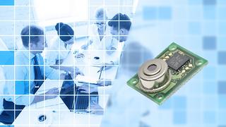Die Wärmesensoren der Produktfamilie Omron D6T basieren auf einem Infrarotsensor, der die Oberflächentemperatur von Personen und Objekten misst.