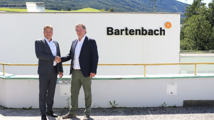 Eglo-Vorstandschef Rene Tiefenbacher und Christian Bartenbach