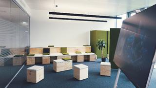 Bei der Gestaltung der Arbeitsumgebung verfolgte EDAG ein mitarbeiterorientiertes Konzept.